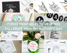 The ultimate roundup of free Mother's Day printables. We've got you covered with cards, prints, tags, and more!