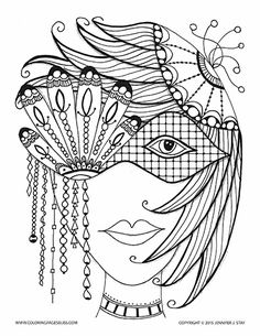Coloring Page for adults and artists of all ages...she is one of the Babes from my Bliss Babes series. A printable coloring page hand drawn by Jennifer Stay, the artist behind over 100 coloring pages available at Coloring Pages Bliss