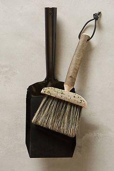 Hewn Handle Brush & Dustpan