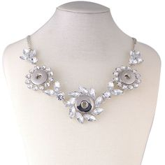 NEW 2016 Fashion Hollow Rhinestone Star Metal Snap Necklace Beauty fit DIY 18MM snap buttons jewlery wholesale women KC0602 #Affiliate