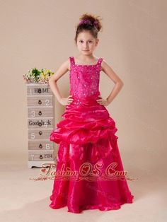 Sweet Tulle Floor Length Little Girl's Dress Beauty Pageant Dresses, Little Girl Pageant Dresses, Pageant Dresses For Teens, Girls Formal Dresses, Unique Prom Dresses, Pageant Wear, Pageant Girls, Dresses 2014, Wedding Dresses