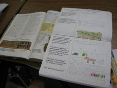 way to encourage students to set up their notebooks for subjects like Science and/or Social Studies when incorporating the use of textbook