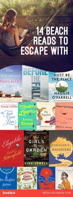 14 beach reads for your summer 2017 reading list. These beach books are great to escape with!