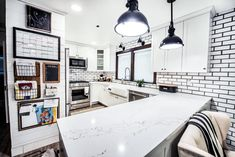 Modern kitchen design with glazed brick tile. Mutual Materials Glazed Slimbrick® in the color Picket Fence. Built by Acorn Construction Seattle WA Brick Interior, Interior Design, Glazed Brick, Thin Brick, Brick Tiles, Modern Kitchen Design, Interior Inspiration, Fence, House Design