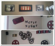 Tiny Movie Room Decor Ideas - The Urban Interior Theater Room Decor, Home Theater Rooms, Home Theater Seating, Cinema Room, Theater Seats, Living Room Themes, Bedroom Themes, My Living Room, Bedrooms