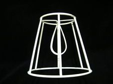 French drum wire lampshade frame 14 base wire lampshade and diy light straight empire clip on lampshade frame 5 base greentooth Images