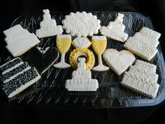 #Wedding #Decorated #Cookies by She Bakes at http://www.facebook.com/SheBakesByHomeGirl