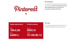 Pinterest is particular with any word, phrase, image that are identified with its logo. #UIStyle #WebDesign