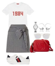 """Untitled #1617"" by theineffableside ❤ liked on Polyvore featuring Gucci, Gosha Rubchinskiy, Christian Dior and FOSSIL"
