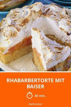 Rhabarbertorte mit Baiser - smarter - Zeit: 40 Min. | eatsmarter.de