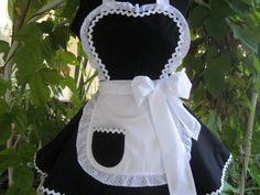 Made to Order Sexy French Maid Apron by ruffledfrenzy on Etsy