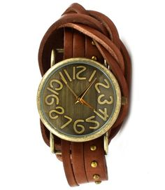 Emily Antique Style Wrap Around Leather Watch.  Love!