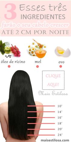 Hair loss is a very uncomfortable subject for most of us. That is why you must try this natural remedy that will make you forget about it. Hair treatment for hair growth Diy Hair Growth Oil, Hair Remedies For Growth, Hair Loss Remedies, Hair Growth Tips, Castor Oil Hair Growth, Hair Mask Castor Oil, Faster Hair Growth, Healthy Hair Remedies, Biotin Hair Growth