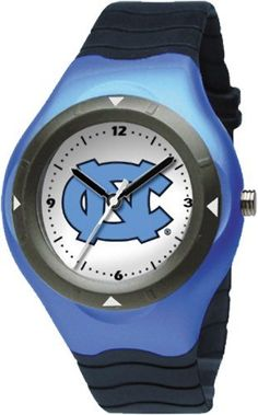 North Carolina Tar Heels Prospect Watch Logo Art. $25.00. Limited lifetime warranty. Miyota quartz movement (377 battery). Case is 1 5/8-Inch wide, dial diameter 1-Inch. Plastic resin case and stainless steel screw back with polyurethane rubber strap. Officially licensed team logo youth size watch