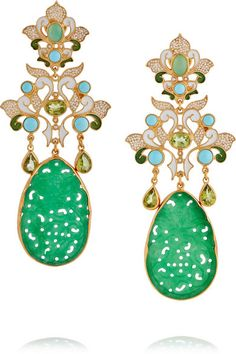 Percossi Papi | Gold-plated multi-stone earrings | NET-A-PORTER.COM