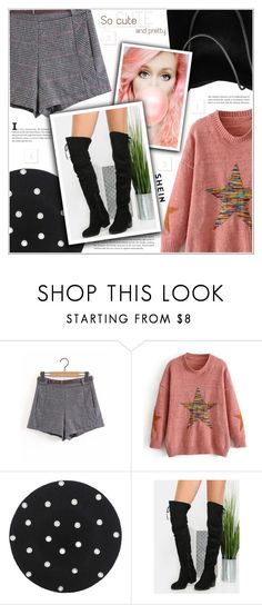 """Cute & Pretty: Shorts & Sweaters"" by shambala-379 ❤ liked on Polyvore"