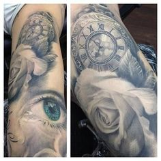 Stunning-blue-eyes-and-watch-with-rose-tattoo
