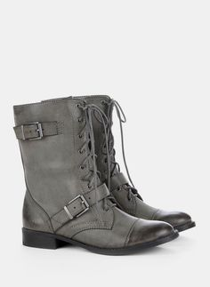 Nessie combat boot. I'd like them in gray or brown.