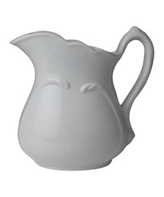 white ceramic pitcher Love white ironstone with slight relief sweet designs!  Who doesn't!!!