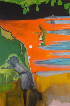 Peter Doig, Cricket Painting (Paragrand), 2006-2012. Oil on canvas, 118 1/4 x 78 3/4 inches, 300 x 200 cm.