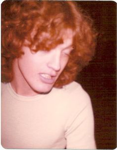 Angus Young (pic by a fan), backstage, in USA, Saint Louis, Kiel Auditorium, 1979