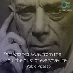 "One of the most influential artists of the 20th century, Pablo Picasso was born on October 25, 1881. The artist's first word was ""piz,"" which is short ""lápiz,"" the Spanish word for pencil. Coincidence? Learn more about Picasso's fascinating life: https://curiosity.com/video/pablo-picasso-biography-cloudbiography/?utm_source=pinterest&utm_medium=social&utm_campaign=102514pin"
