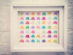 3D Multi-coloured Elephant Picture by Polkadotcorner22 on Etsy