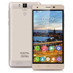 "awesome Oukitel K6000 Pro - Smartphone móvil libre Android 6.0 (Pantalla 5.5"", 32GB ROM, 3GB RAM, Octa-Core, 13MP Cámara, Lector de huellas dactilares, Resolución 1280 x 720 HD)"