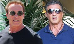 Arnold Schwarzenegger and Sylvester Stallone head to lunch