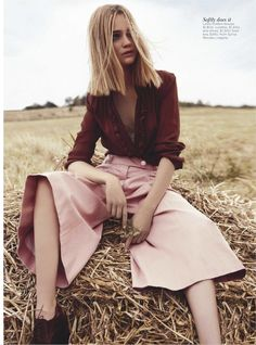 I like the extreme of skinny trousers or a palazzo style - these Louis Vuitton culottes are lovely