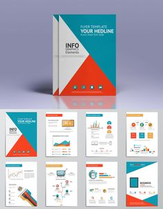 Business Infographics Elements For Brochures Template AI, EPS, PDF