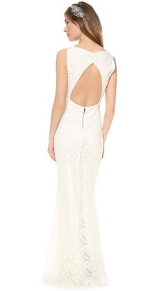alice + olivia Sachi Open Back Gown $396