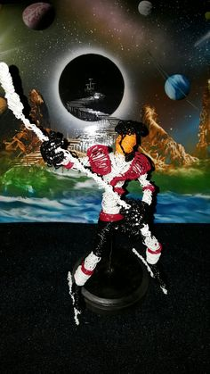 Cincinnati Cyclones hockey player created out of wire #insta #wire art #cool #hockey #NHL#in start # fantasy art