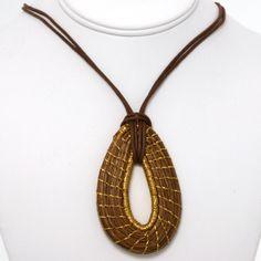 pine needle bracelets | Guatemalan Pine Needle Tear Drop Necklace