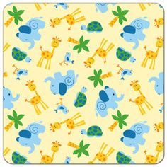 Buy PUL fabric in Happy Giraffe print by the yard or cut. Make cloth diapers, snack bags, and more! Made in USA. Waterproof, breathable, food safe, CPSIA compliant.