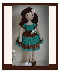 Collectible doll Elegant crochet doll child friendly от chepidolls