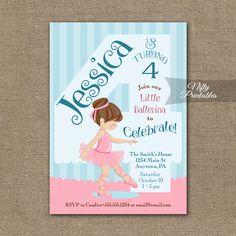 4th Birthday Invitation – Ballerina Tutu Invitation