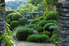 Now..this is the way to do box: The buxus, appear to be growing intrinsically & naturally from the landscape, not dropped from space to appear as a monied, lazy statement by an inferior garden designer. Vesian, repinned by rheingruen.blogspot.de