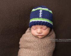 fa79ff2f5b5 Seahawks Baby Hat Seahawks Football Hat by DesignsbyLeahCnnnghm