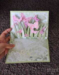 объемная раскладная открытка с бабочками 1
