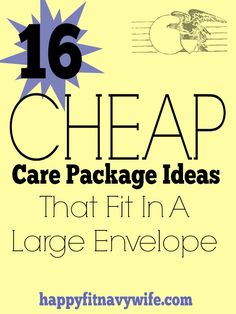 16 cheap care package ideas-- save money during #deployment and send everything in an envelope!   #milspouse #milso