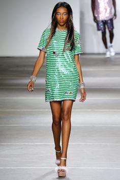 Sequins Go Gingham, Snakeskin, and Denim on Ashish's Spring 2015 Runway – Vogue