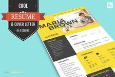Cool Resume For Creative Designers