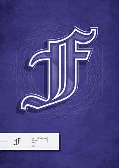 Typographic Illustrations by Alex Colbourne, via Behance