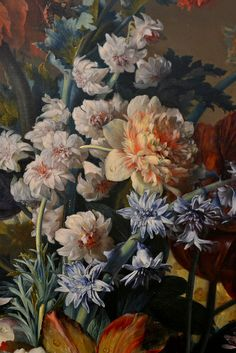 Delphinium and peony detail from Vase of Flowers by Jan van Huysum | Flickr - Photo Sharing!