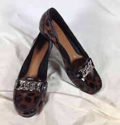 #NURTURE Brown/Black #Leopard Print #PatentLeather #Loafers #Womens Size 7.5 M http://cgi.ebay.com/231851303329