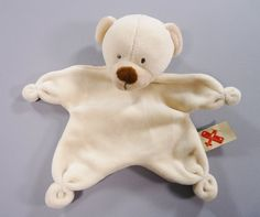 Doudou ours plat beige Nicotoy