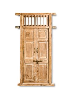 Antique Door with Ventilation Grill - Fama Design Corp. Indian Doors, Antique Doors, White Farmhouse, Wood Doors, Door Design, Master Bath, Tall Cabinet Storage, Carving, Bath Ideas