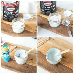 BEST Homemade Chalk Paint Recipe with Infinite Color Options (Calcium Carbonate)