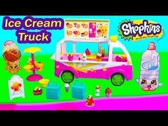 Shopkins Season 3 Scoops Ice Cream Truck Playset Food Fair Van Car Exclusive Fun Toy Video Unboxing - YouTube
